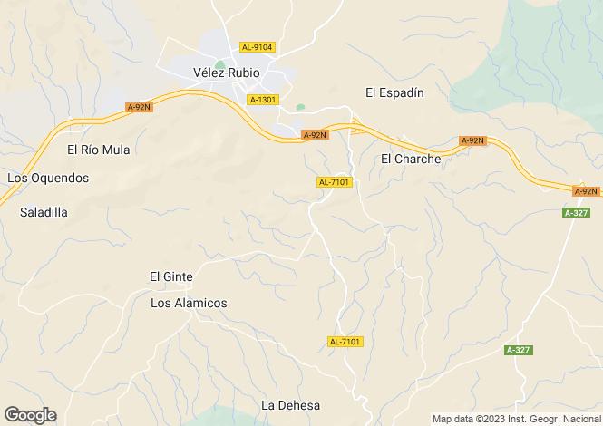 Map for Vélez-Rubio, Almería, Andalusia