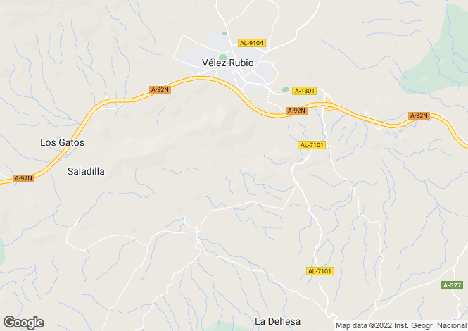 Map for Spain - Andalucia, Almería, Vélez-Rubio