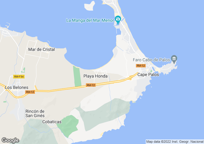 Map for Mar Menor, Murcia