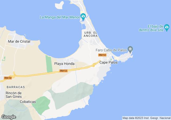 Map for Spain - Murcia, La Manga del Mar Menor