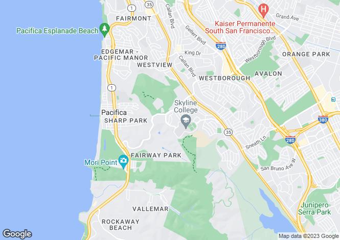 Map for USA - California, San Mateo County, San Bruno