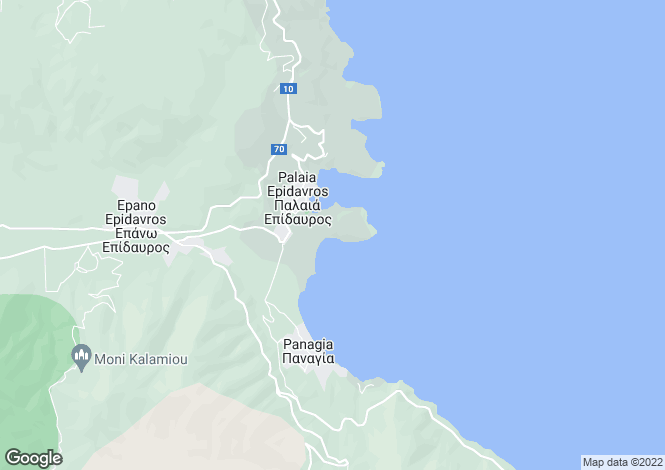 Map for Palaia Epidavros, Argolis, Peloponnese