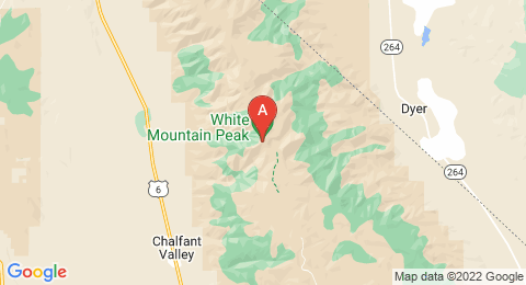 map of White Mountain Peak (United States of America)