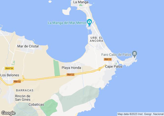 Map for Murcia, Alicante, Spain