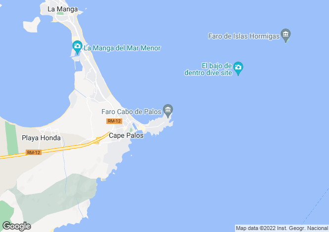 Map for Spain - Murcia, Cabo de Palos