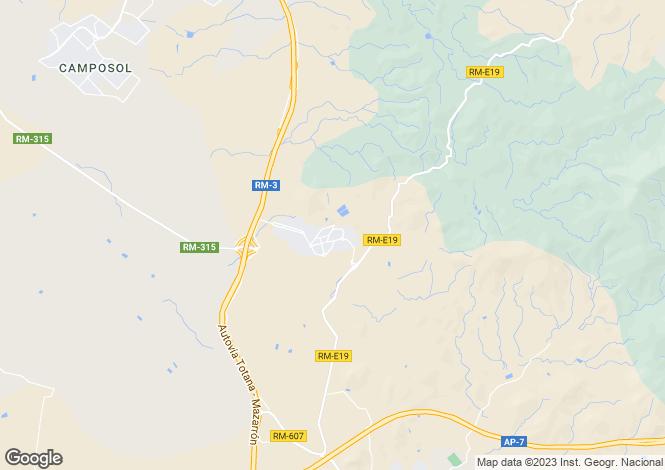 Map for Murcia, Mazarrón