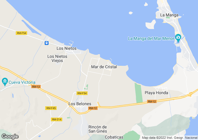 Map for Mar De Cristal, Murcia