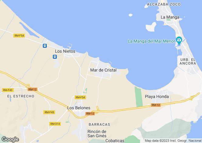 Map for Murcia, Mar De Cristal