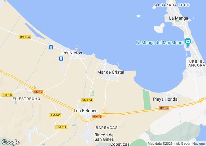 Map for Mar Menor, Murcia, Spain