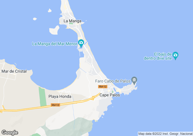 Map for Spain - Murcia, La Manga del Mar Menor