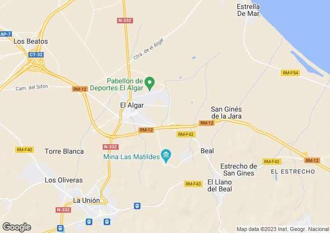 Map for El Algar, Murcia