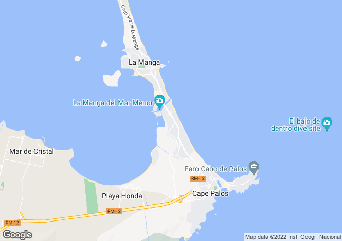 Map for La Manga del Mar Menor, Murcia