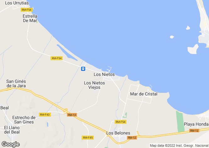 Map for Murcia, Los Nietos