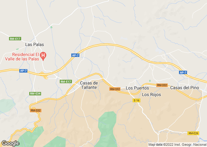 Map for Tallante,Murcia