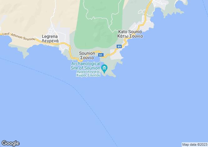 Map for Attica, Sounio
