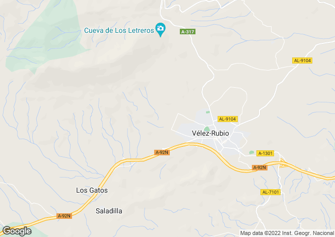 Map for Cortijo Aciron, Velez Rubio, Almeria