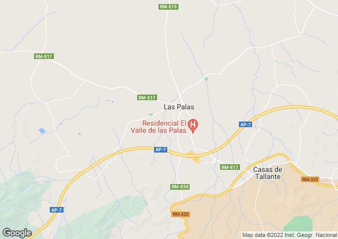 Map for Murcia, Las Palas