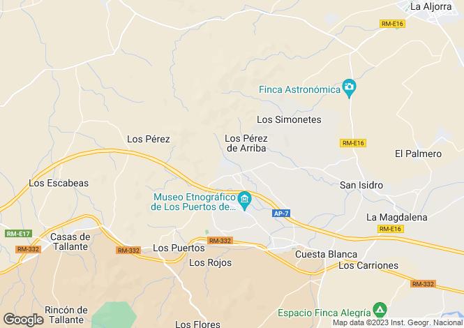 Map for Murcia, Tallante