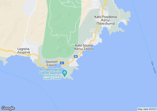 Map for Attica, Kato Sounio