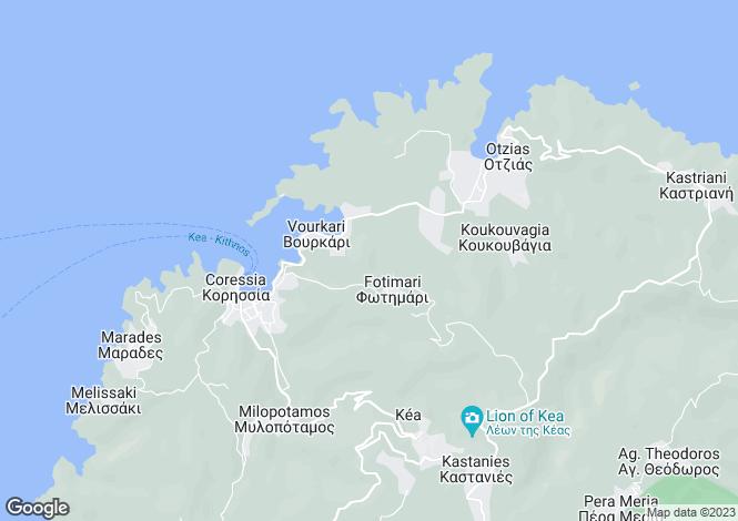 Map for Fotimari House, Kea Island, Cyclades,  Greece