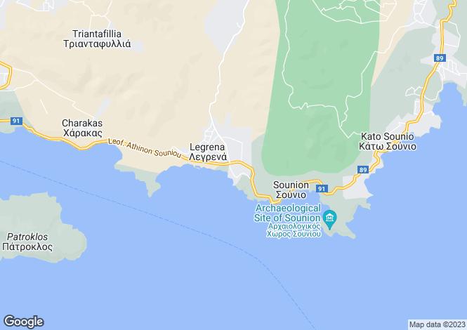 Map for Sounio, Attica
