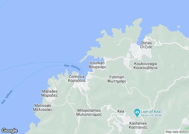 Map for Gialiskari Town House, Kea Island, Cyclades, Greece