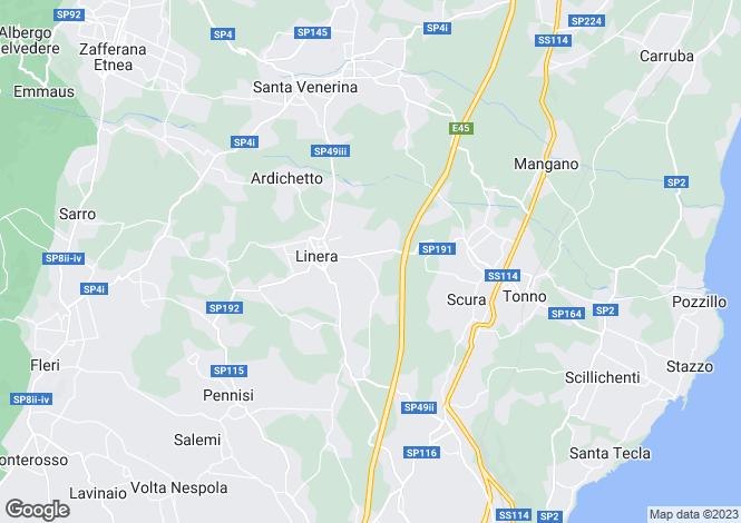 Map for Santa Venerina, Catania, Sicily