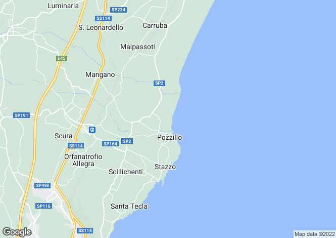Map for Sicily, Catania, Acireale