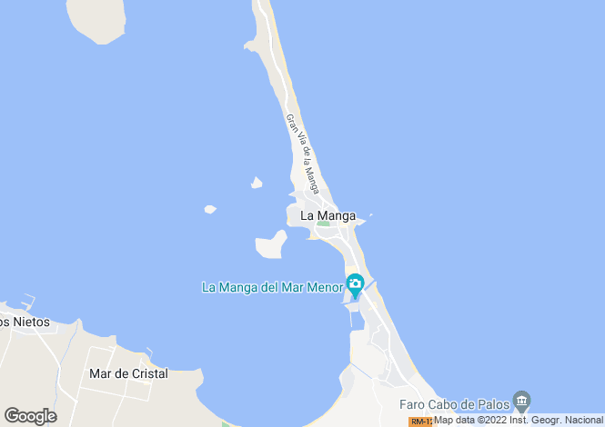 Map for La Manga del Mar Menor, Murcia
