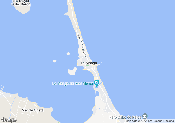 Map for Murcia, La Manga del Mar Menor