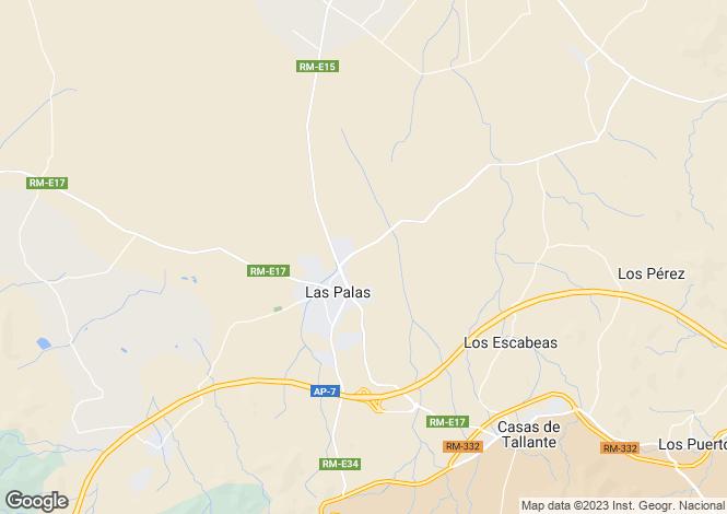 Map for Las Palas, Murcia, Spain