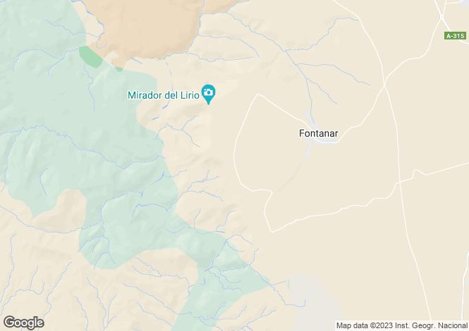 Map for Andalusia, Jaén, Fontanar