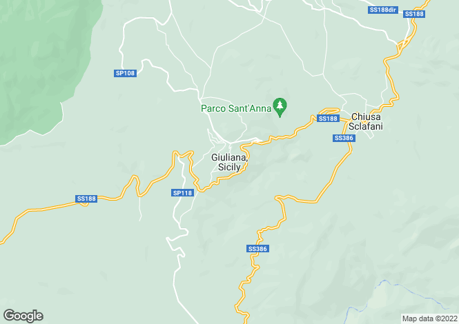 Map for Sicily, Palermo, Giuliana