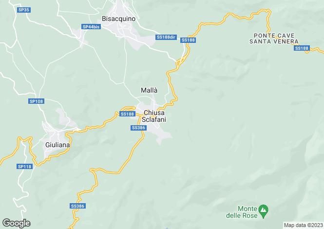 Map for Sicily, Palermo, Chiusa Sclafani