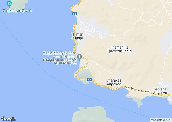 Map for Attica, Palaia Fokaia