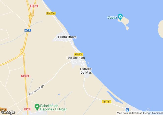 Map for Las Urrutias, Murcia