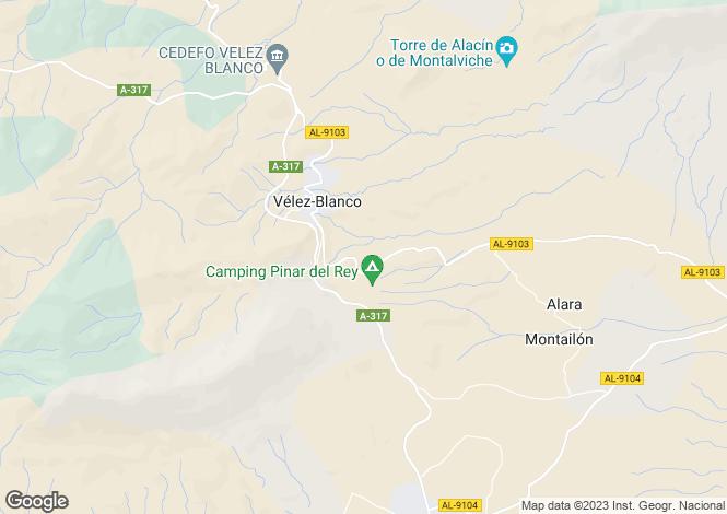 Map for Andalucia, Almería, Velez Blanco