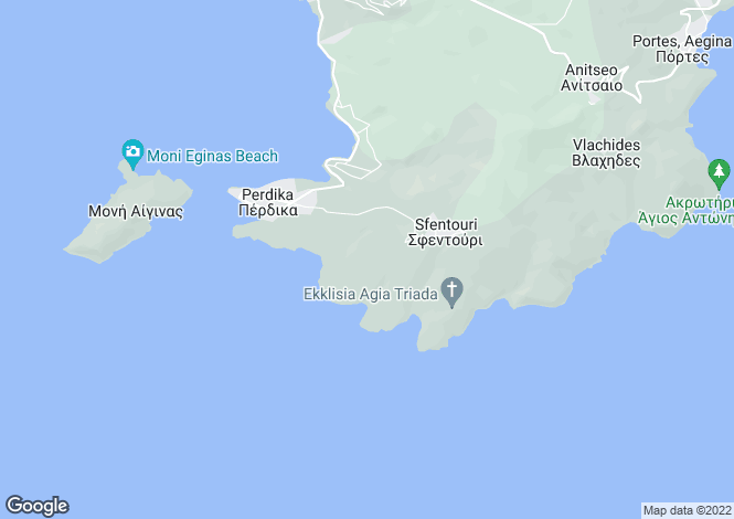 Map for Saronic Gulf, Aegina