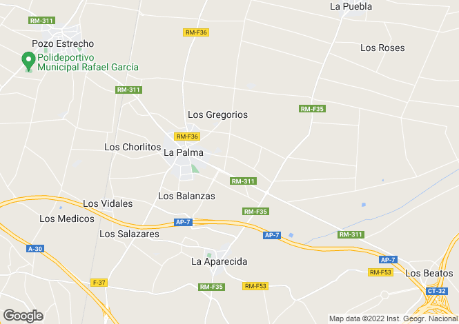 Map for La Palma, Murcia