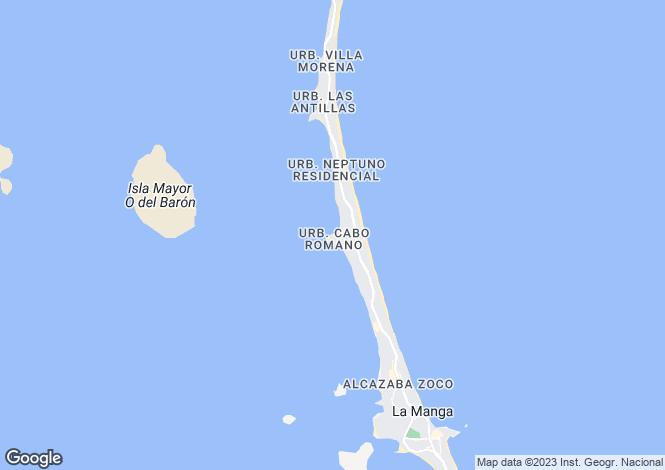 Map for Murcia, La Manga del Mar Menor