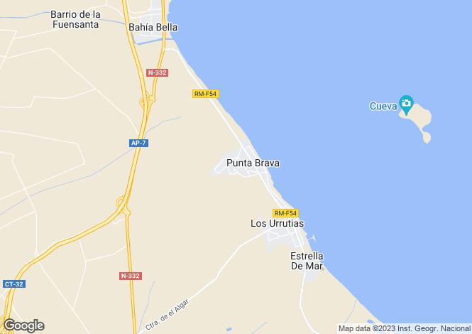 Map for Los Urrutias, Murcia, Spain