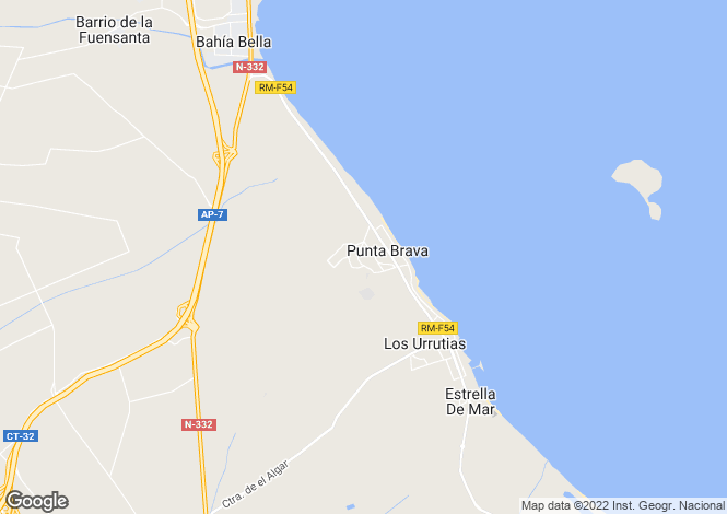 Map for Mar Menor, Murcia, Spain