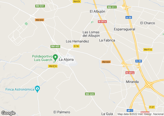 Map for La Aljorra, Murcia