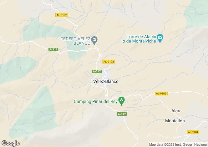 Map for Spain - Andalucia, Almería, Velez Blanco