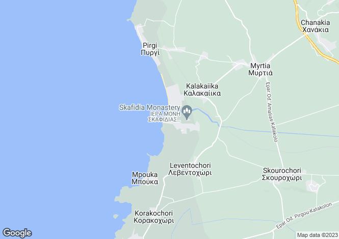 Map for Peloponnese, Elis, Katakolo