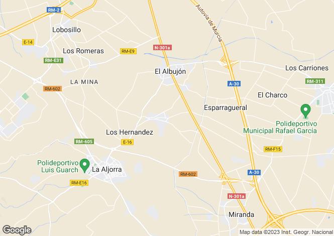 Map for Albujón, Murcia