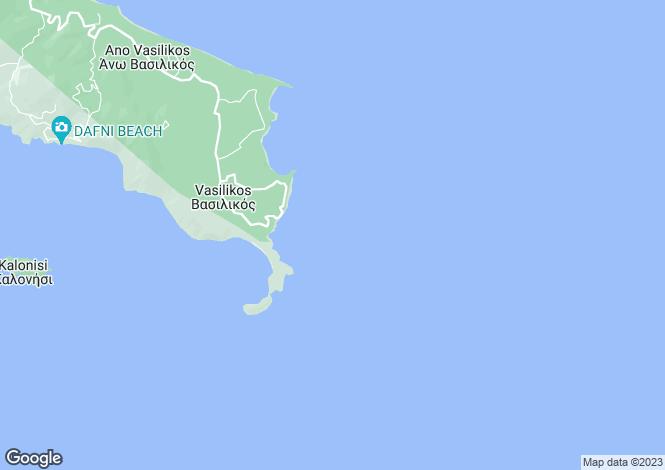 Map for Ionian Islands, Zante, Vasilikos