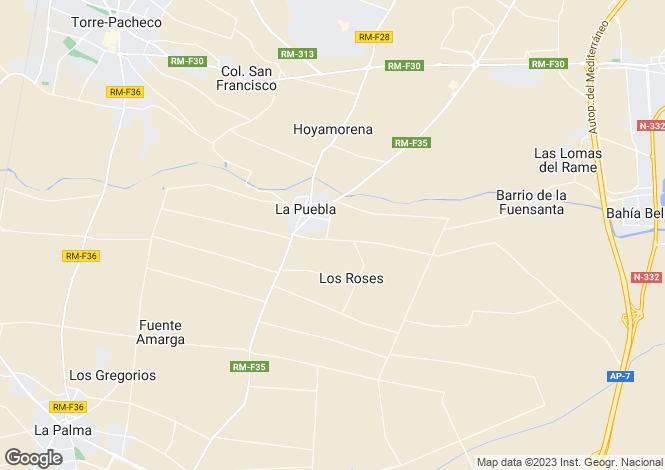 Map for Murcia, Molino De La Puebla