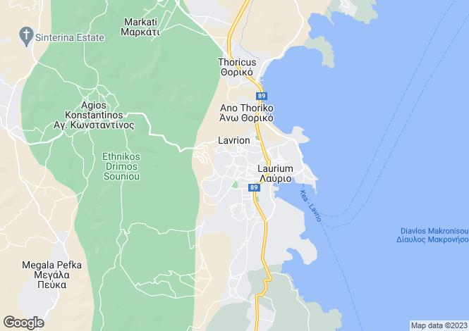 Map for Attica, Lavrio