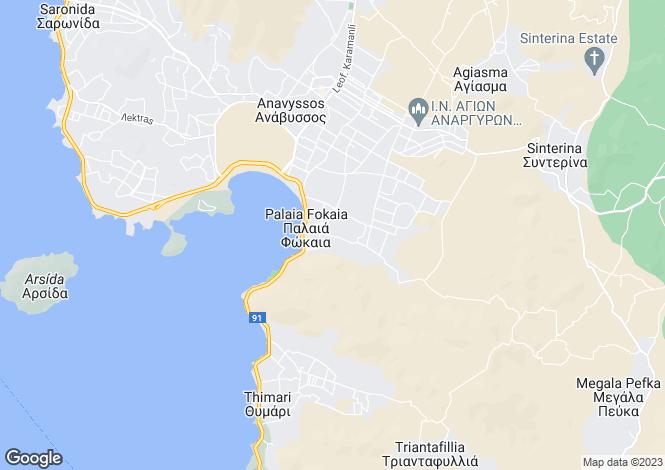 Map for Palaia Fokaia, Attica